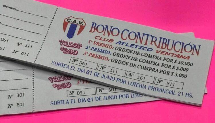 Ganadores del bono contribución del Club Atlético Ventana