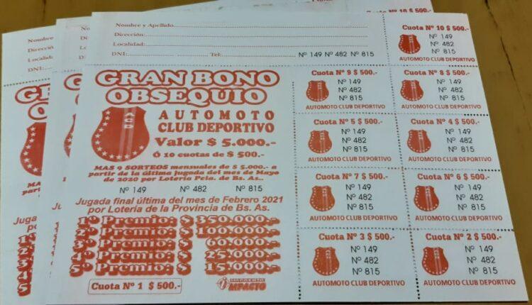 Sorteo mensual del Gran Bono Obsequio de Automoto