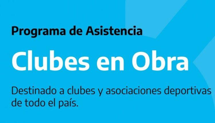 Continúa abierta la inscripción al programa 'Clubes en obra'