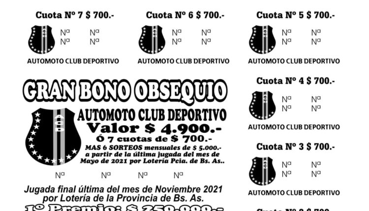 Automoto tiene a la venta su Gran Bono Obsequio anual